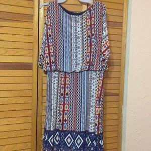 Cato Large split sleeve dress